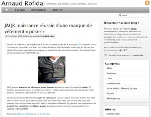 Blog Web Analytics et e-marketing