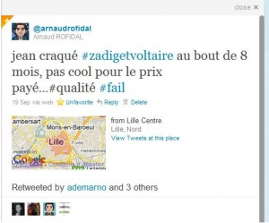 Tweet concernant Zadig Et Voltaire