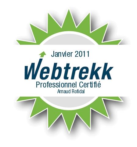 Certification Webtrekk Arnaud Rofidal